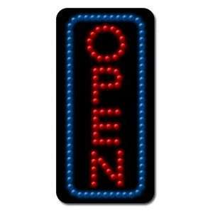 LED   Open Vertical   Blue Border & Red Letters Kitchen & Dining