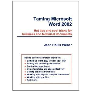 Taming Microsoft Word 2002 (9780957841956): Jean Hollis