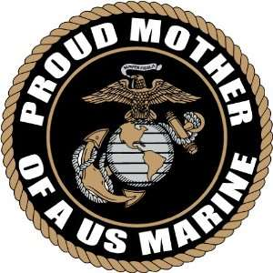 PROUD MOTHER US MARINE CORPS ARMY DECAL STICKER 5 (BLACK