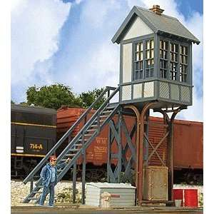 Built ups HO Scale Elevated Crossing Tower Two Tone Gray Toys & Games