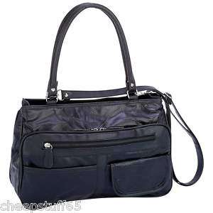 Black Lambskin Leather Purse Handbag Shoulder Bag