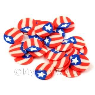100 Puerto Rico Flag Slices Doll House Nail Art (DNS47)