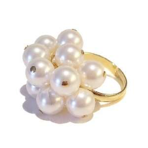 The Black Cat Jewellery Store White Swarovski Pearl & Gold