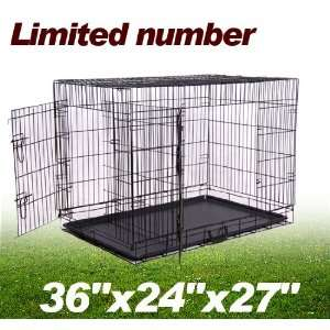 Frugah Small Size 2 Two Doors Cage Folding Portable Crate Pet Dog Cage