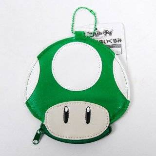 Super Mario Bros. Mushroom Mini Wallet Purse Green