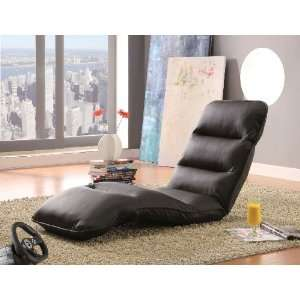 Coaster Gaming Lounge Chair in Brown Faux Leather
