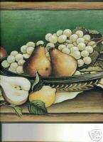 Tuscan kitchen Fruit In Bowl Wallpaper Border