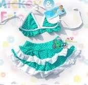 childrens swimsuit swimwear bikini tutu petti skirt new with tag