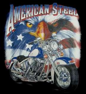 AMERICAN STEEL DRESSER V TWIN BIKER MOTORCYCLE FLAG EAGLE SWEATSHIRT T