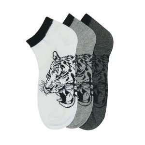 HS Men Ankle Socks Tiger Design (size 9 11) 3 Colors 6