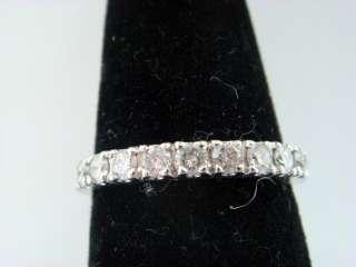 Womens Diamond Wedding Band Ring .38ct 14k White Gold Ring ladies