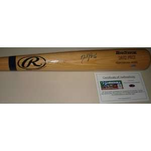 David Price Autographed Bat   Rawlings Big Stick   Autographed MLB