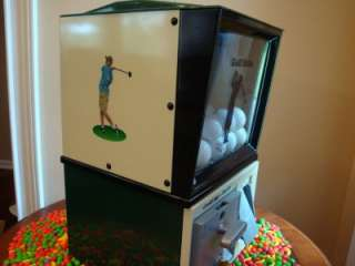 his is an all original VINAGE VICOR GOLF BALL VENDING MACHINE ha