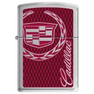 Zippo Custom Lighter   Black Red Cadillac Car Logo