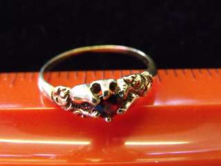 ESTATE ANTIQUE OLD VICTORIAN 14K YELLOW GOLD RING GENUINE RED GARNET
