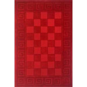 Burgundy Hand Loomed Wool Area Rug 2.30 x 3.90.: Home & Kitchen