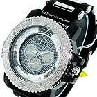 ICED OUT MENS 3 ROW SILVER WHITE ICE NATION HIP HOP BLING SILICONE