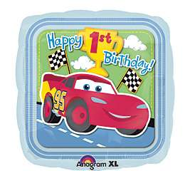 Cars 1st Birthday 18 Lightning McQueen Party Mylar Foil Balloon