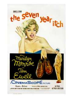 Year Itch, Marilyn Monroe, Tom Ewell, 1955 Poster at AllPosters