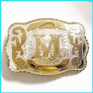 New Western English Letters M Belt Buckle WT 078M