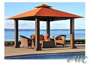 OUTDOOR 12x12 WICKER PERGOLA / GAZEBO / PATIO CABANA