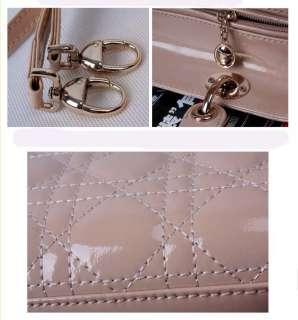 Genuine Leather Quilted Bag Purse Handbag Satchel Tote
