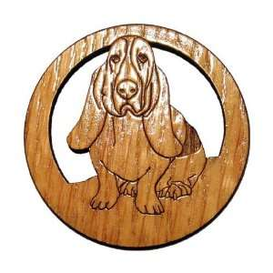 Laser Etched Basset Hound Dog Magnets   Set of 6 Kitchen & Dining