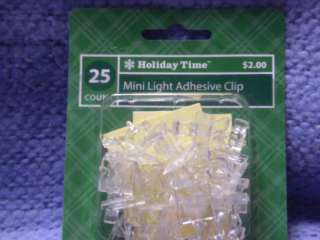 Holiday Time Christmas Light Mini Hanging Hooks Adhesiv