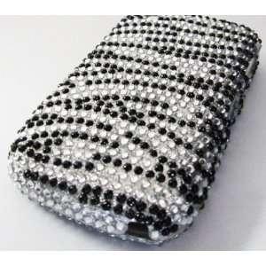 Blackberry 8520 8530 Hard Bling Case Diamond Zebra Phone