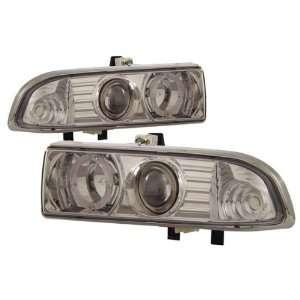 98 04 Chevy S 10 Chrome LED Halo Projector Headlights Automotive
