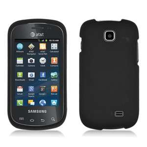 Galaxy Appeal i827 Rubberized HARD Protector Case Phone Cover Black