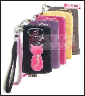 iPhone Mobile Cell Phone Velvet Case Pouch Purse ANIMOB