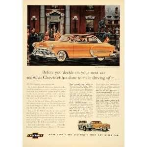 1953 Ad Vintage Chevrolet Bel Air Sedan General Motors