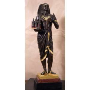 Bronze Egyptian Pharaoh Priest 2 Picault   Limited Edition