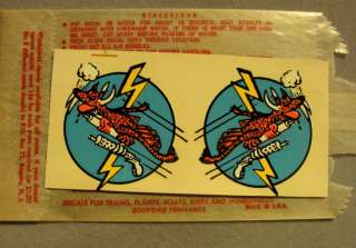NOVELTY DRAGON TIGER LIGHTNING WATER DECAL HOT ROD KUSTOM DRAG RACE
