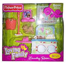 Fisher Price Loving Family Dollhouse Furniture Set   Laundry Room