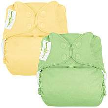 BumGenius 4.0 Snap Cloth Diaper 2 Pack   Butternut/Grasshopper (One