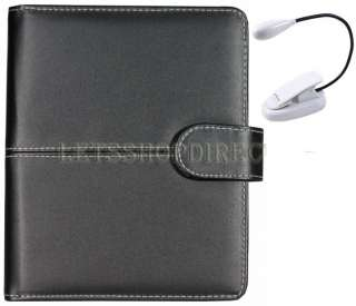 Black Leather Case Cover Pouch Jacket for New  Kindle Touch+Dual