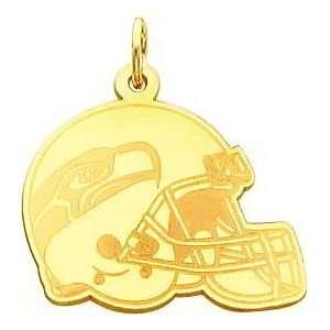14K Gold NFL Seattle Seahawks Football Helmet Charm