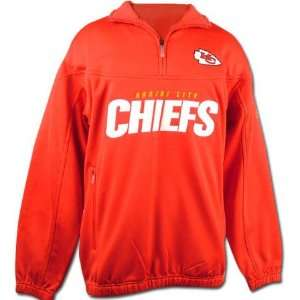 Kansas City Chiefs 1/4 Zip Coaches Pullover Fleece Jacket