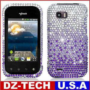 Purple Bling Diamond Hard Case Cover for T Mobile LG myTouch Q C800