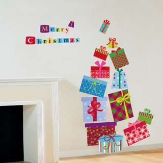 Christmas Gifts X Mas New Year Decor Wall Sticker Decal