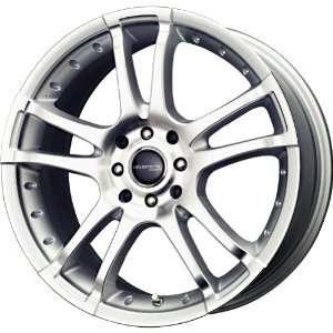 Liquid Metal Venom Silver Wheel with Machined Face (17x7.5