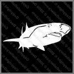 Hammerhead Shark 8 inch Auto Window Stickers Decal Jaws