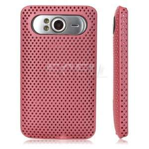 Ecell   BABY PINK PERFORATED MESH HARD CASE COVER FOR HTC
