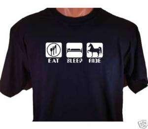 Eat Sleep Ride Horse T Shirt