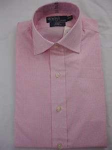 Polo Ralph Lauren DRESS SHIRT REGENT Spread White Pink
