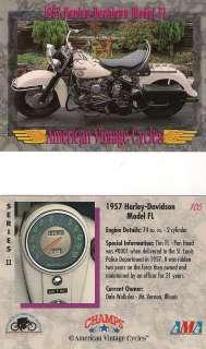 American Vintage 1957 Harley Davidson Motorcycle Model FL 74 cu. in. 2