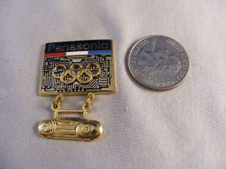 OLYMPIC SPONSOR PANASONIC BOOMBOX RADIO LAPEL HAT PIN