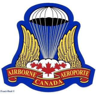 CANADA Canadian Airborne PARACHUTE PARA WINGS Sticker decal